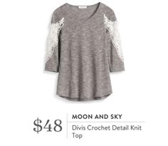 Moon and Sky Divis Crochet detail- I love me some crochet or lace detail. This looks perfect for fall!