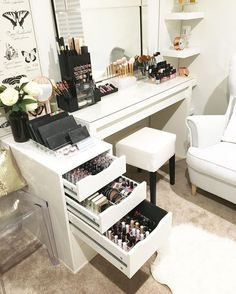 dressing table, makeup, and bedroom image