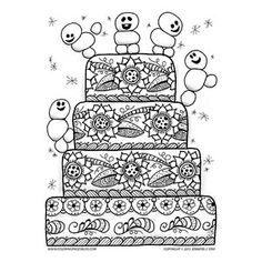 Cute Frozen Snowmen on Birthday Cake
