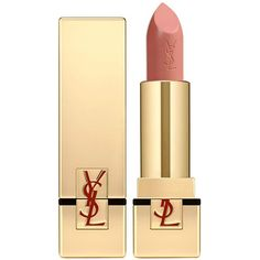 Yves Saint Laurent Beauty Women's Rouge Pur Couture Satin Radiance... (£28) ❤ liked on Polyvore featuring beauty products, makeup, lip makeup, lipstick, beauty, lips, nude, moisturizing lipstick, yves saint laurent lipstick and yves saint laurent