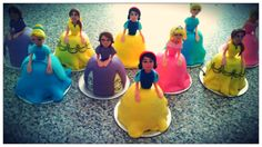 Disney doll cupcakes
