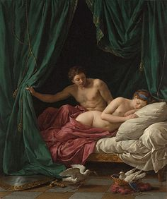 Mars & Venus, Allegory of Peace (1770) by Louis Jean François Lagrenée (1725-1805) at the Getty Museum