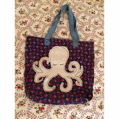 ❤️Precious Octopus Tote❤️ Lightly used little tote! Old Navy Bags Totes