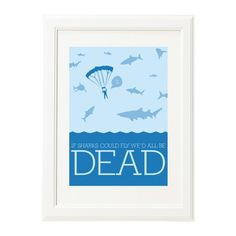 If Sharks Could Fly Print www.aliceberrydesign.com  COPYRIGHT ALICE BERRY