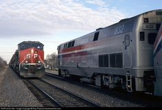 RailPictures.Net Photo: AMTK 832 Amtrak GE P40DC at Galesburg, Illinois by Ray Peacock-heartlandrails.com