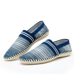 Casual Slip On Linen Cloth Breathable Soft Sole Flat Shoes Stripe Driving Shoes  Worldwide delivery. Original best quality product for 70% of it's real price. Hurry up, buying it is extra profitable, because we have good production sources. 1 day products dispatch from warehouse. Fast...