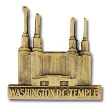 Washington D.C. Temple Pin in Gold - $4.95