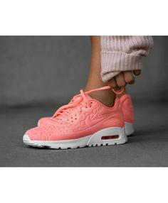 newest collection b29fa ed098 Nike Air Max 90 Ultra Plush Trainers In Pink White Cheap Nike Trainers,  Mens Trainers