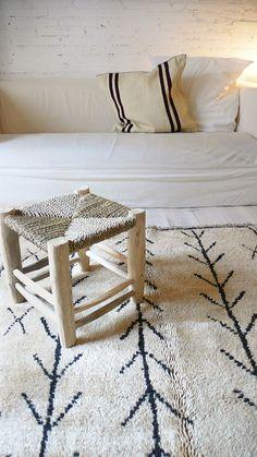 Vintage Moroccan Rug Natural virgin wool AZILAL por lacasadecoto, €445.00