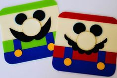 step by step mario invitations.  i wish i was this cool.