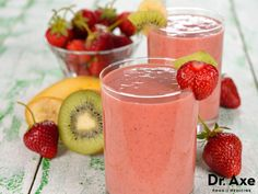 This strawberry kiwi smoothie is absolutely delicious! It's a great way to satisfy that sweet craving or a healthy snack that kids love! Try this easy recipe!