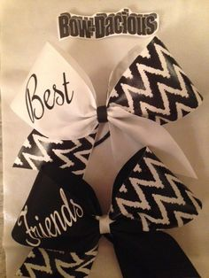 Best Friends Cheer Bows by BowdaciousCheerBows on Etsy