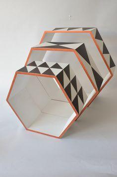 Etagères graphiques - Thème Nordic Geometric - Loisirs Créatifs Noël Geometric - Cultura