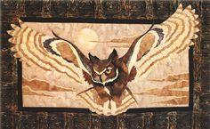 Quilt Pattern Midnight Glide Owl Toni Whitney Design Art