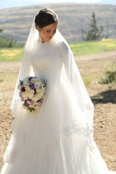 Muslim Style Tulle 2016 Lace Wedding Dress Jewel Neck Floor Length Bridal Gown Plus size Custom Made Wedding Dress