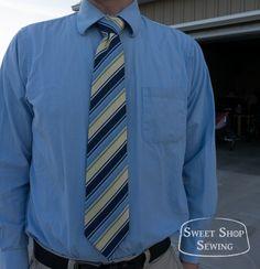 Pánská kravata | střih + návod | en