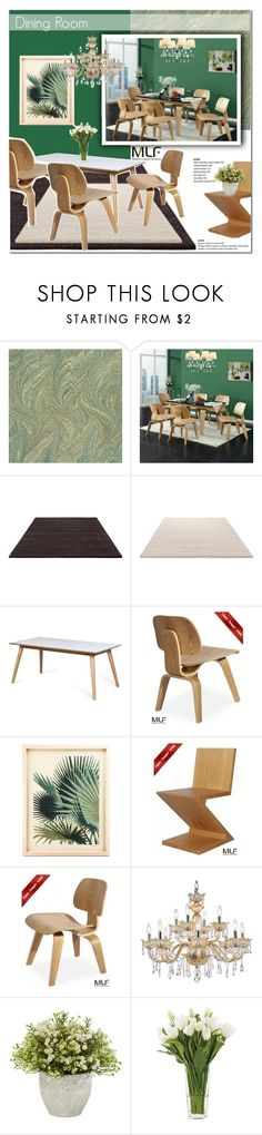 """Dining room"" by vanjazivadinovic ❤ liked on Polyvore featuring ESPRIT, RIETVELD by Rietveld, Universal Lighting and Decor, NDI, dining room, modern, polyvoreeditorial, Poyvore, homeset and modernluxuryfunrniture"