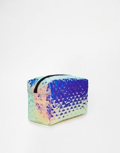 Buy ASOS Textured Metallic Make Up Bag at ASOS. Get the latest trends with ASOS now. Asos, Hologram, Cuff Bracelets, Fashion Beauty, Mermaid, Make Up, Texture, My Style, Bag
