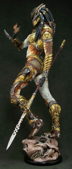Type of warrior for the alien tribe.spin off for Tahu? Alien Vs Predator, Predator Cosplay, Predator Movie, Predator Art, Movie Characters, Fantasy Characters, Character Art, Character Design, 3d Fantasy