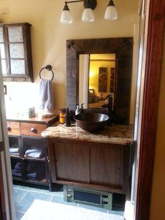 Backsplash needed after hanging mirror.