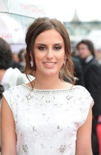Lucy Watson wearing Carat earrings at the BAFTA Awards