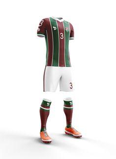 Proposta conceitual para o novo uniforme do Fluminense Football Club, que será fornecida pela DryWorld.