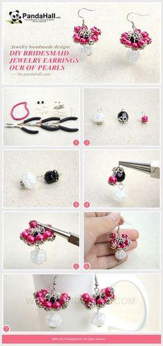 Jewelry Making Tutorial--DIY Bridesmaid Earrings with Pearls | PandaHall Beads Jewelry Blog