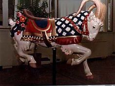 Looff Goat (Ram) Ca:1905  $31,000 Carosel Horse, Painted Pony, Merry Go Round, Medieval Art, Animals Beautiful, Fireworks, Goats, Fantasy Art, Deer