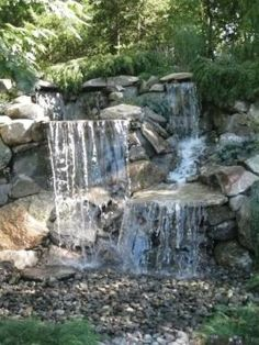 Lovely Above Ground Waterfall