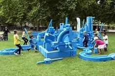 15 of the World's Most Amazing Playgrounds (photo of Imagination Playground-using sand, water, and the provided foam blocks, kids can exercise their creativity and build their own playground).