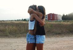 summer friends hug shorts