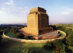 Voortrekker Monument, Pretoria, South Africa One of the most massive monuments anywhere, erected in 1938 to celebrate the Great Trek when Afrikaners fled British persecution in the Cape to found their free and independent republics (the Orange Free State and the Transvaal) as well as their ultimate battle victory against the Zulus at Blood River in 1838. Everything about the monument is huge. | By BBQBoy and Spanky Blog