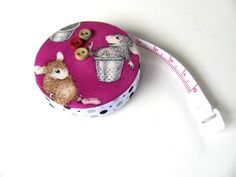 Thimble Mice Fabric Tape Measure by AllAboutTheButtons, $7.75 USD
