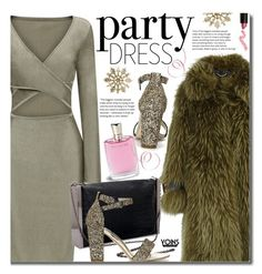 Perfect Party Dress by beebeely-look on Polyvore featuring Burberry, Lime Crime, Lancôme, party, sandals, partydress, holidaystyle and yoinscollection