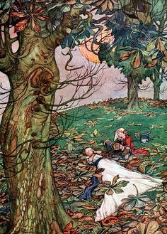 William Heath Robinson - Bill the minder, 1912 (The Musician: And played it for my delight) Vintage Illustration Art, Magazine Illustration, Vintage Artwork, Book Illustrations, Heath Robinson, Historical Art, Faeries, Fairy Tales, Golden Age