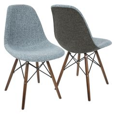LumiSource Brady Duo Dining / Accent Chair (Set of 2) (