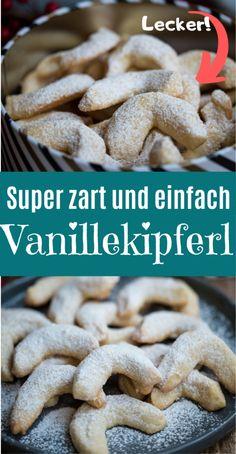 Xmas Cookies, Yummy Cookies, Cake Cookies, Easy Cookie Recipes, Baking Recipes, Dessert Recipes, Desserts, Vanilla Biscuits, Gateaux Cake