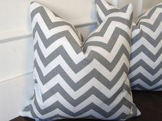 Etsy Transaction - Light Gray Cheveron 16x16inch decorative pillow cover