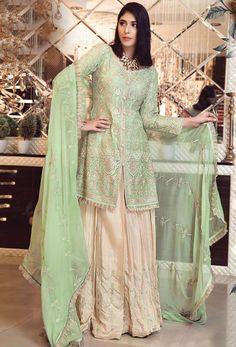 Pista Green Foux Georgette Lehenga Straight Green Heavy Embroidred With Stone Work – Arabic attire Pakistani Salwar Kameez, Pakistani Dresses, Lehenga Choli, Salwar Suits, Bridal Lehenga, Indian Dresses, Kids Kaftan, Pakistani Suits Online, Suits Online Shopping