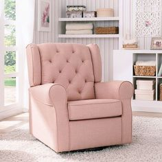 Delta Children Emma Tufted Glider Blush No Nursery Is Complete Without A Plush And The Upholstered From