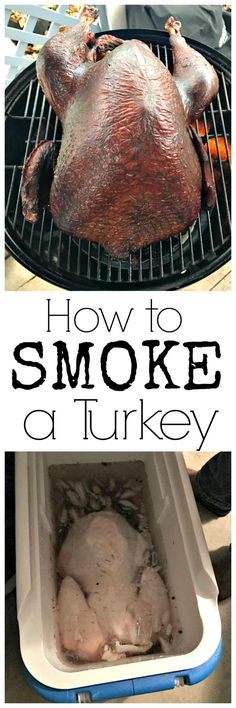 Discover just how easy it is to smoke a turkey--learn how to make a perfect turkey! You can smoke on a Traeger, on a grill, or a regular smoker. Easy Summer Meals, Summer Recipes, Fall Recipes, Easy Meals, Easy Soup Recipes, Easy Healthy Recipes, Easy Dinner Recipes, Smoked Turkey, Bbq Turkey