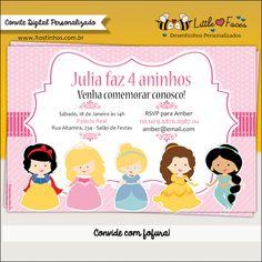Convite Princesas Disney Digital
