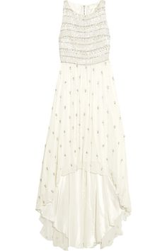 Alice + OliviaGore embellished silk-chiffon gown