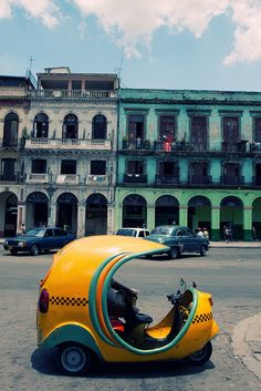 Havana, Cuba. I didn't get to go to Havana but I sure did ride in a cocotaxi and giggled the whole time LOL