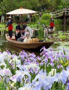 Wedding Procession by Boat, Sawara, Chiba, Japan 嫁入り舟