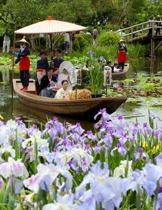 Wedding Procession by Boat, Sawara, Chiba, Japan 嫁入り舟