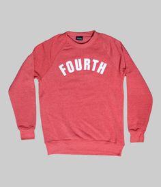 Fourth Crew Sweatshirt: Red   Fourth Is King - $65