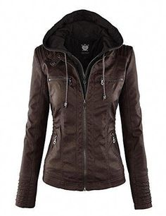 a119f692f817e 2017 Autumn Winter New Women s Faux Leather Hooded Jacket Zippered Short  Slim Motorcycle Jacket Women Coat Outerwear Blusas