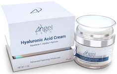 Hyaluronic Acid Cream Moisturizer Face and Skin with Squalane, Jojoba and Apricot Oil, Airless Jar Protects Formula, Best Anti Aging Moisturizer, 1 Oz >>> You can find more details by visiting the image link. (Note:Amazon affiliate link)