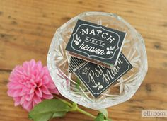 Printable chalkboard Matchbox Wedding Favors. Perfect to light sparklers after the ceremony.